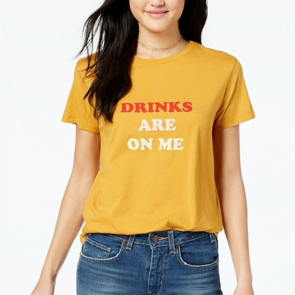 ban.do Tops - ban.do Drinks Are On Me Graphic Classic T-Shirt